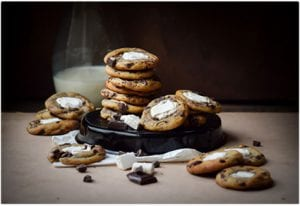 Caramel Fluffernutter Chocolate Chip Cookies