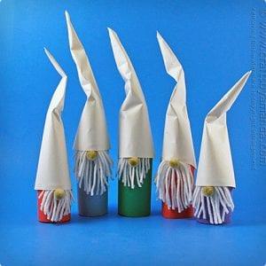 Cardboard Tube Christmas Gnomes