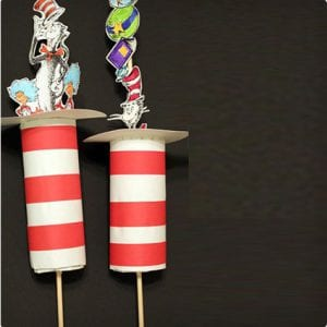 Cat In The Hat Push Up Craft