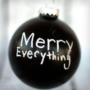 Chalkboard Ornament Tutorial