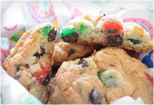 Cherry and Chocolate Christmas Cookies