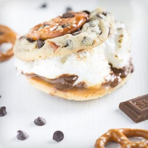 Chocolate Chip and Pretzel S'Mookies