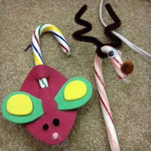 Christmas Mice and Reindeer Candy Cane Crafts