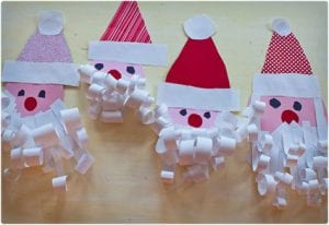 Paper Crafts: Christmas Tree and Santa