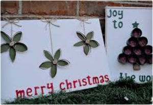 Christmas Wall Art Using Toilet Paper Rolls