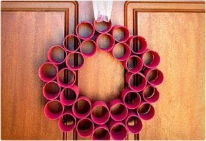 Christmas Wreath Made From Toilet Paper Rolls