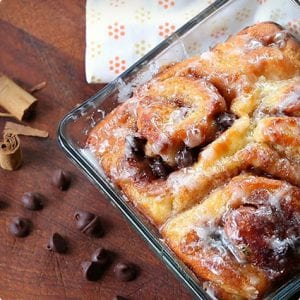 Cinnamon Rolls With Chocolate Chips