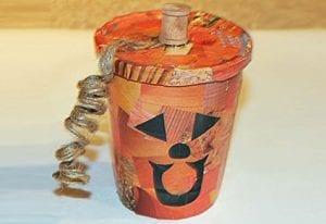 Collage Pumpkin Treat Cup Craft