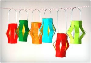 Colorful Play Lanterns Made From Toilet Paper Rolls