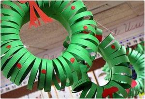 Construction Paper Wreathe