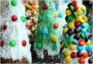 Cookie Candy Cone-Shaped Trees