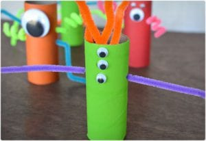 Crazy Toilet Paper Roll Monsters