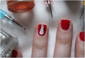 Cute Snowmen Nail Art Tutorial