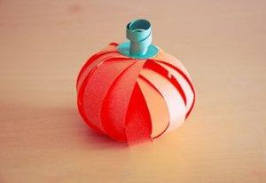 Cute and Simple Paper Pumpkin Craft