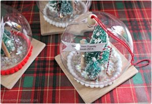 DIY Christmas Snow Globe Ornament