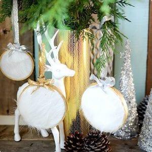 DIY Faux Fur Christmas Ornament