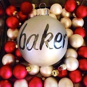 DIY Hollowed Out Name Ornaments