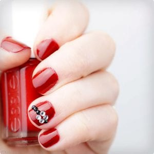 DIY Santa Belt Nail Art