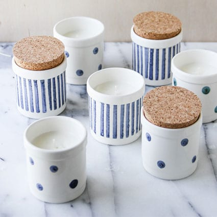 DIY Scented Soy Wax Candles in Mini Containers