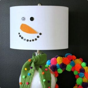 DIY Snowman Lamp Makeover