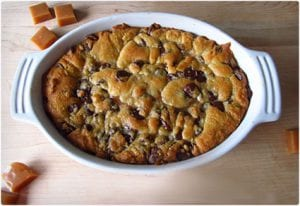 Deep Dish Chocolate Chip and Caramel Cookie