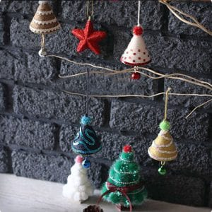 Easy Cone Tree Christmas Ornaments
