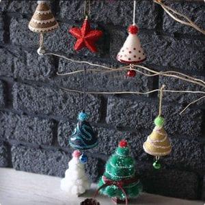 Easy Cone Tree Christmas Ornaments