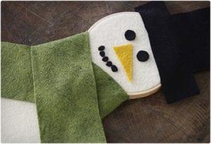 Easy Embroidery Hoop and Felt Snowman