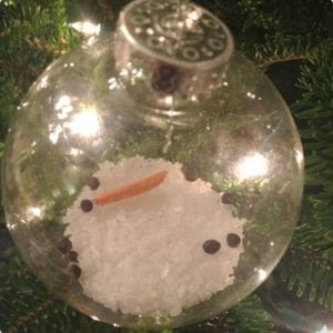 Easy Melted Snowman Ornament