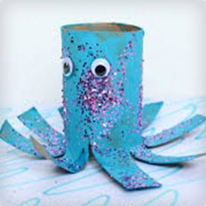 Easy Octopus Toilet Paper Roll Craft