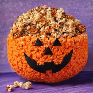 Edible Pumpkin Popcorn Craft