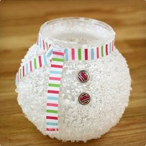 Epsom Salt Snowman Makeover For Vases