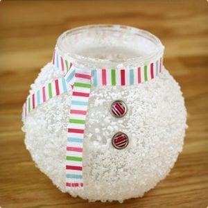 Epsom Salt Snowman Makeover For Vases