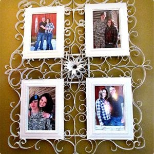 Fancy Frame Using Toilet Paper Rolls