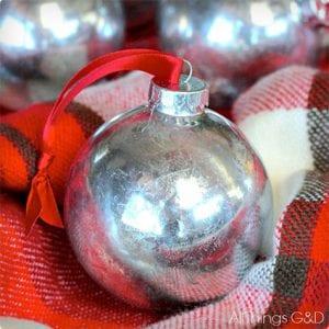 Faux Mercury Christmas Ornament Tutorial