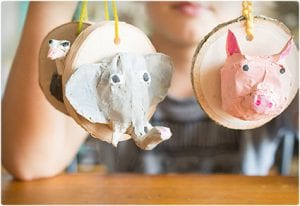 Faux Taxidermy Ornaments
