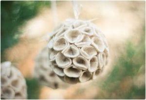 Felt Ball Ornament Tutorial