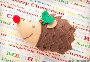 Felt Hedgehog Ornament Tutorial