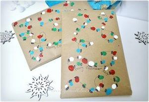 Fingerprint Christmas Lights Wrapping