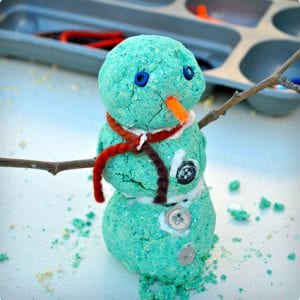 Foam Dough Snowmen Craft
