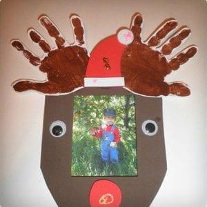 Foam Reindeer Picture Frame