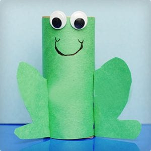 Froggy Toilet Paper Roll Craft