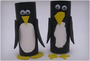 Fun Penguins Made From Toilet Paper Rolls