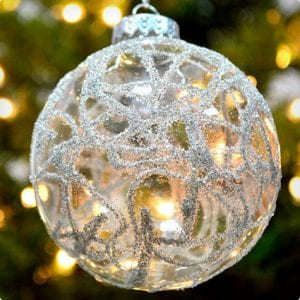 German Glass Glitter Ornaments