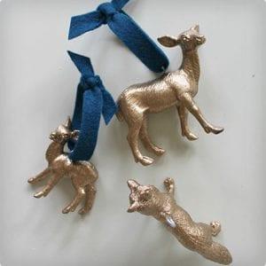 Gilded Woodland Creature Ornaments Tutorial