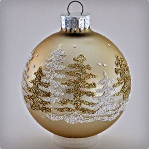 Glitter Christmas Tree Ornament Tutorial