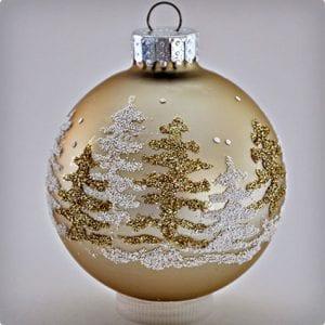 Glitter Christmas Tree Ornament Tutorial