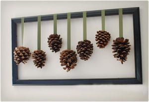 Hanging Pine Cone Wall Art