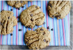 Healthy Chocolate Chip Bear Paw Cookies