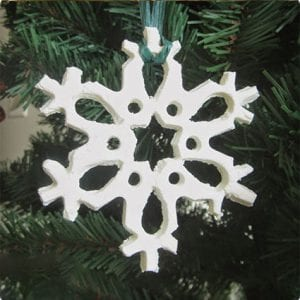 Homemade Baking Soda Snowflake Ornaments